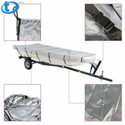 Grey For Jon Boat Cover For Jon Boat 12ft-18ft L Beam Width Up To 75inch 210d