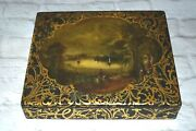 Antique Jennens And Bettridge Maker To The Queen Writing Box Papier Mache Ca.1800s