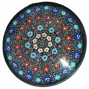 2and039x2and039 Table Marble Inlay Top Antique Coffee Dining Pietra Dura Home Decor B137