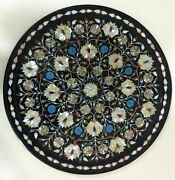 2and039x2and039 Table Marble Inlay Top Antique Coffee Dining Pietra Dura Home Decor B140