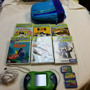 Leap Frog Leapster 2 Handheld With 9 Games Electric And Usb Cord With Backpack