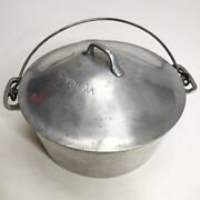 Vintage Wagner Ware 7 Aluminum Round Roaster With Drip Drop Lid Blaster