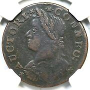 1787 46-bb R-5 Ngc Vf 25 Draped Bust Left Connecticut Colonial Copper Coin