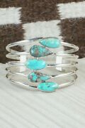 Turquoise And Sterling Silver Bracelet - Jones Delgarito