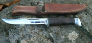 Rare 1940-1965 Case Usa Vintage Hunting Skinning Knife And Case Xx Leather Sheath