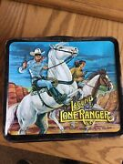 Vintage 1980 The Legend Of The Lone Ranger Metal Lunchbox And Thermos Aladdin