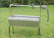 46 Stainless Steel Spit Roaster 110v Outdoor Bbq Cooking Lamb Chicken Grill