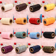 10x260m 150d 1mm Leather Sewing Waxed Wax Thread Hand Needle Cord Craft Diy New