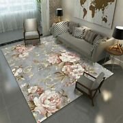 3d Chinese Flower Printed Carpets And Rugs Ink Painting Living Room Bedroom Rug