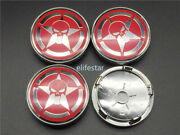 Car Wheel Hub Centre Cover Caps For Punisher Sticker Steering Emblem Decal Red