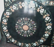 30and039and039 Marble Inlay Table Top Pietra Dura Home Garden Antique Coffee Decor B161