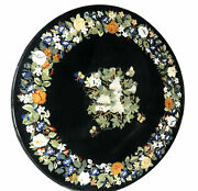 30and039and039 Marble Inlay Table Top Pietra Dura Home Garden Antique Coffee Decor B163