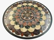 30and039and039 Marble Inlay Table Top Pietra Dura Home Garden Antique Coffee Decor B166