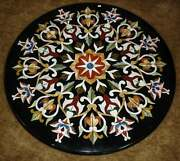 30and039and039 Marble Inlay Table Top Pietra Dura Home Garden Antique Coffee Decor B167