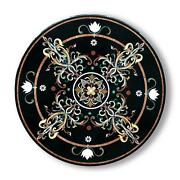 30and039and039 Marble Inlay Table Top Pietra Dura Home Garden Antique Coffee Decor B169