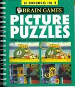 Brain Games Picture Puzzles, 2 Books In 1 By Holli Fort 2008-05-04 - Good