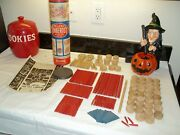 Vintage 1953 Deluxe Tinkertoy Set Complete W/ Directions