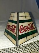 """Vintage Stained Glass""""looktiffany Material God Coca-cola Lamp Shade Alabaster"""