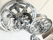Harley Street Glide Touring Chrome Exchange Impeller Wheels 14-19 W/front Rotors