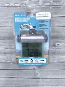Wind And Weather Easy-to-read Weather-resistant Outdoor Digital Window Thermometer
