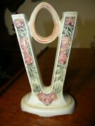 Weller Art Pottery Arts And Crafts Style V Shaped Double Bud Vase Late 1900's1925