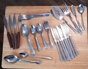 Vintage Oneida Stainless Silverware Flatware Lot Of 51 Pieces