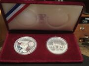 1983 S 1984 S Proof Los Angeles Olympic Silver Dollar Us Mint Commemorative Set