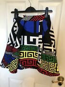 Rare Rrp Andpound1895 Runway Versace Fall 2015 Puzzle Print Medusa Gianni Skirt It 38