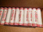 2021 P Box Of 50 Rolls Of Lincoln Cents Penny Bu Rolls Ms Obw