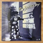 The Invisible Boy Laserdisc 1957 Mgm Ld Classic Sci-fi Factory Sealed - Rare