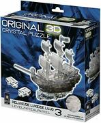 Bepuzzled Original 3d Crystal Puzzle Deluxe - Pirate Ship Black