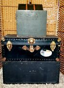 Vintage Ww2 Era Military Footlocker File Cabinet And Trunk.