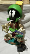 Rare Looney Tunes Marvin The Martian 18.5andrdquo Animated Figurine Works Christmas Andlsquo98