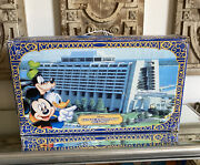 Vtg Disney's Contemporary Resort Monorail Toy Accessory Box And Instructions Rare