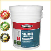 White Reflective Roof Coating Elastomeric Rv Rubber Metal Mobile Sealant 5 Gal
