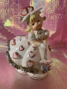 Vintage Samson Imports 1950s Valentines Day Girl Heart Dress Planter As Is