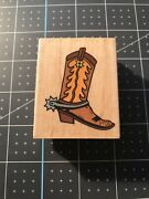 Inkadinkado Cowboy Boot Spurs Western Old West Rodeo Rubber Stamp New