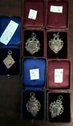 Lot Of 5 Sports Medals Gold/silver Beautifully Crafted Circa 1907 Birmingham