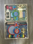 Melissa And Doug Lot Of 2 Band-in-a-box Clap Clang Tap Jangle Shake 17 Piece New