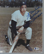 Joe Dimaggio Yankees To Michael Signed Personalized 8x10 Color Photo - Beckett