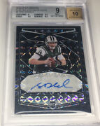 2018 Panini Obsidian Sam Darnold Electric Etch White Finite 1/1 Jets And Panthers