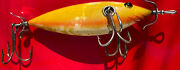 Heddon 700 Musky Minnow 3h Fat Body Heavy Casting Old Fishing Lure Rare