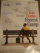 Fantastic Forrest Gump Signed Movie Poster 9 Sigs Autographed W/ Groom And Coa