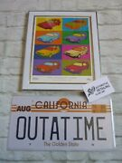 Framed 10x8 Ltd Edt 30th Lithograph Print Future Delorean Warhol Outatime Biffs