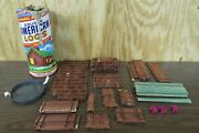 1938 Vintage American Logs By Halsam Rare No.835 Can With Lid And 305 Pieces