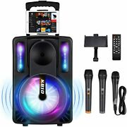 Karaoke Machine For Kids And Adults Seaphy Dj Lights 10and039and039 Woofer Bt...