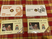 Rare Vintage Lot 8k Solid Gold Coin Miniature Gold Coins Collection Popes