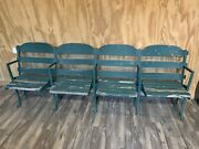 Rare 1912 Authentic 4 Stadium Seats From Navin Field Briggs Tiger Stadium