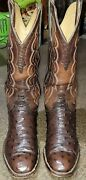 T.o. Stanley Vintage Ostrich Boots Size 9.5