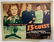 The Mystery Of The 13th Guest 1940s Original Movie Poster Yeoldepostercom